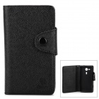 Cross Pattern Protective PU + TPU Case for Sony Xperia SP M35h - Black