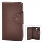 Protective PU Leather + TPU Case for Sony Xperia SP M35h - Brown