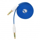 3.5mm Male to Male Flat Audio Cable - Blue