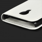 Protective PU Leather Flip Open Case for Samsung Galaxy S4 Mini / i9190 - White
