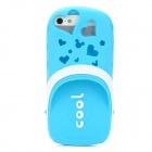 Stylish Water Resistant Scented Protective Slipper Style Silicone Back Case for Iphone 5 - Blue