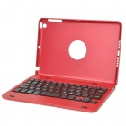 KM3 Protective ABS Case w/ Wireless Bluetooth V3.0 59-key Keyboard for Ipad MINI - Red