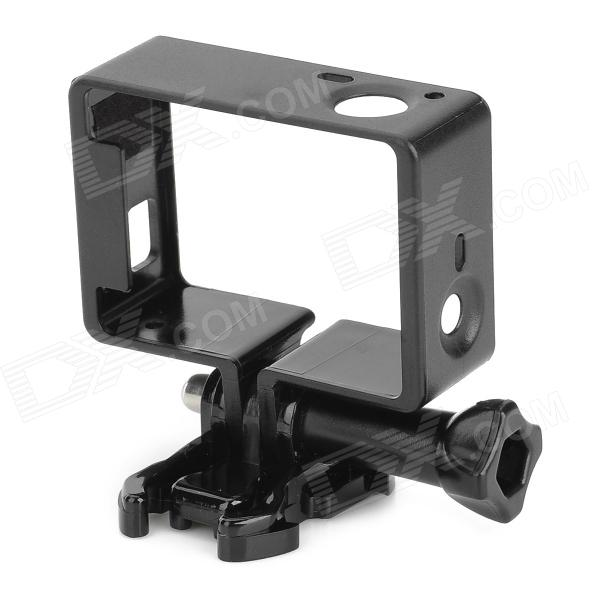 SMJ Protective Side Frame w/ Screws + Push Buckle for Gopro Hero 4/3 - Black three dimensional adjustable helmet side mount for gopro hero 3 3 2 1 black