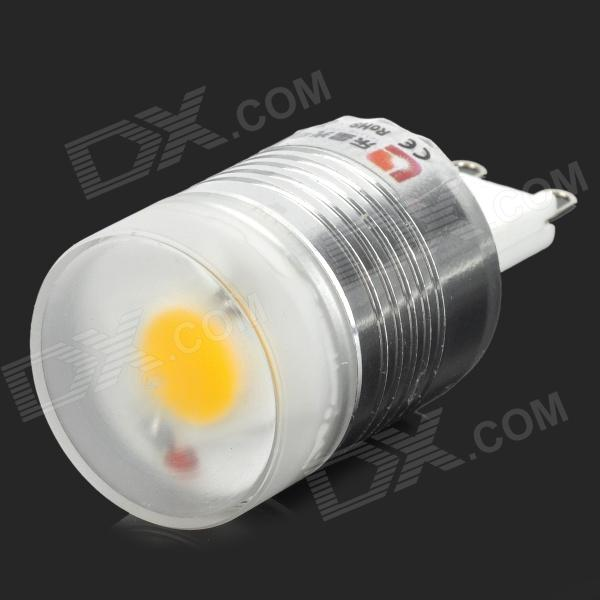 Lexing Lighting LX-YMD-037 G9 3W 280lm 3500K Warm White Light Bulb - White + Silver (220~240V) lexing lx r7s 2 5w 410lm 7000k 12 5730 smd white light project lamp beige silver ac 85 265v