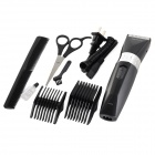 GONCON GR6035 Rechargeable Reciprocating Type Electric Hair Cutter - Black + Silver