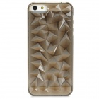 Stylish Cut Diamond Style Protective Plastic Back Case for Iphone 5 - Chanpagne