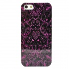 Retro Violet Pattern Protective Plastic Back Case for Iphone 5 - Purple