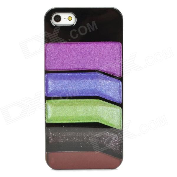 Fashionable Colorful Strip Patterned Protective Plastic Back Case for Iphone 5 - Multicolored skull patterned protective plastic back cover case for iphone 6 plus 5 5 black deep pink