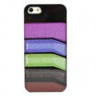 Fashionable Colorful Strip Patterned Protective Plastic Back Case for Iphone 5 - Multicolored