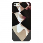Stylish Volution Pattern Protective Plastic Back Case for iPhone 5 - Black + Gray