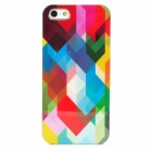 Fashionable Colorfully Patterned Protective Plastic Back Case for Iphone 5 - Multicolored