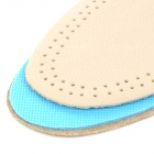 JD-012 Shock Reducing Capeskin + Latex Shoe Insole Pads for Men - Beige + Blue (Pair / Size 44)