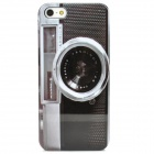 Stylish Camera Pattern Protective Plastic Back Case for Iphone 5 - Black + Gray
