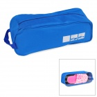 Durable Water Resistant Oxford Fabric Shoe Zipper Bag - Blue
