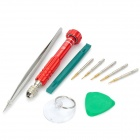 BEST BST-600 Multifunction Disassembling Screwdriver Tool Kit for HTC + More - Red + Silver + Green