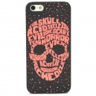 Stylish Glow-in-the-dark Skull Pattern Protective Plastic Back Case for Iphone 5 - Black + Red