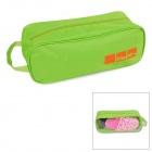 Durable Water Resistant Oxford Fabric Shoe Zipper Bag - Green