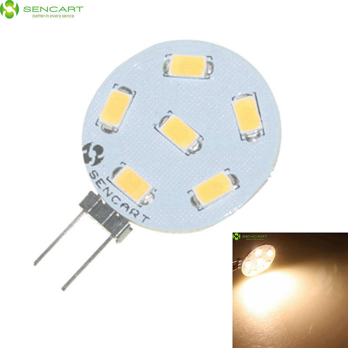 SENCART G4 2.4W 150lm 3000K 6-5730 SMD LED Warm White Light Lamp (12~24V)