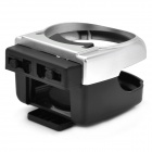 Air Car Outlet Drink Holder - Negro + Plata