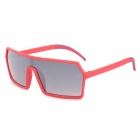 CARSHIRO C1928 UV400 Protection Grey Resin Lens Sunglasses - Red Frame