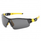 CARSHIRO 6103 UV400 Protection Riding Polarized Sunglasses - Black + Yellow