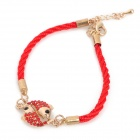 Strass Pisces Art-Armband für Frauen - Red + Golden