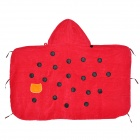 Kids' Cute Lady Beetle Style Cotton Bath Towel w/ Hood - Red