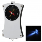 T7546 Handy Multifunctional Compass w/ LED Light + Strap - Black + Silver (2 x CR2016)