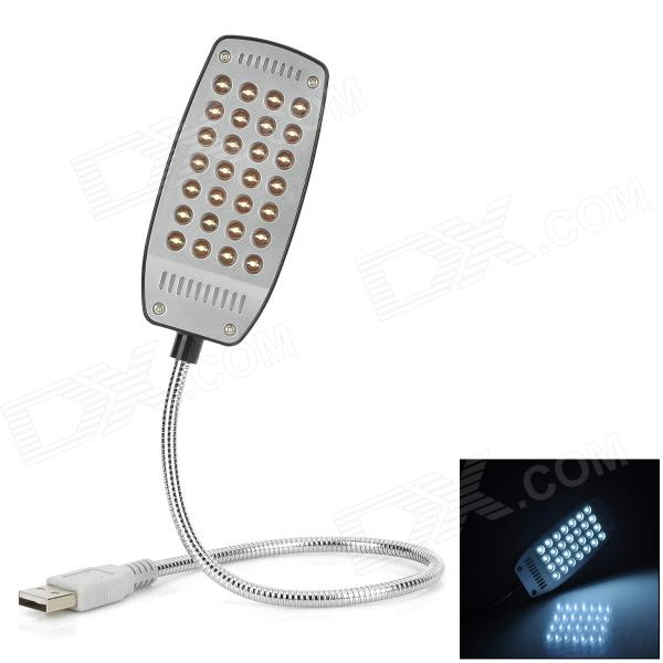 Alimentado por USB Lamp 28-LED White Light Eye-protetora para Laptop - Black + Silver