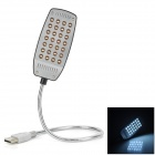 USB Powered 28-LED White Light Eye-Protective Lamp for Laptop - Black + Silver