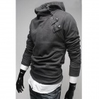 Stylish Slim Fit Cotton Hoodie for Men - Deep Grey (Size-XL)