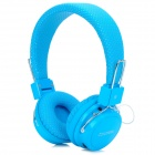 SOUND FRIEND SH011B Bluetooth v3.0 Headphones w/ Microphone / FM / TF - Blue + Silver