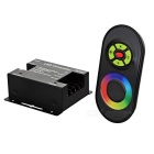 Wireless RGB Touching Remote Control w/ LED Controller Dimmer - Black
