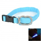 3-Mode  Blue Light LED Flashing Dog Collar - Blue (2 x CR2016)