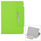 "Universal Stylish Flip-open PU Leather Case w/ Fastener / Holder for 7.9"" Tablet PC - Green"