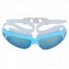 Sinca S928M-Blue Electroplated Anti-Fog Lens Swimming Goggles - Blue + White