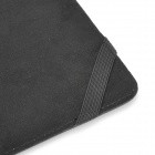 "Protective PU Leather Flip-open Case for 13"" MacBook Air - Black"