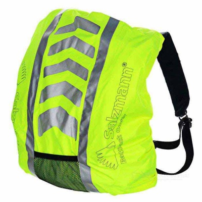 Salzmann 40005 Reflective Water Resistant Oxford Fabric Backpack Cover - Fluorescent Yellow (25~40L)