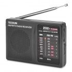 TECSUN R-202T Portable Pocket 2~5 Channel FM Radio - Black (2 x AA)