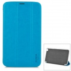 XUNDD Stylish Flip-open PU Leather Case w/ Holder for Samsung T3100 - White + Blue