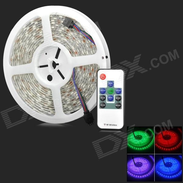 Wasserdichte 72W 300 LED-5050 SMD RGB Light Strip w / Mini RGB Fernbedienung - Weiß (5M / DC 12V)