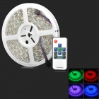 Waterproof 72W 300-LED 5050 SMD RGB Light Strip w/ Mini RGB Remote Control - White (5M / DC 12V)