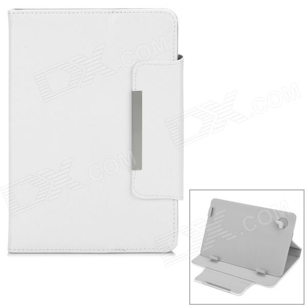 Universal Stylish Flip-open PU Leather Case w/ Fastener / Holder for 7.9 Tablet PC - White - DXTablet Cases<br>Brand N/A Quantity 1 Piece Color White Material PU Style Cases with Stand Type For Tablets Compatible Model 7.9 tablet PC Packing List 1 x Case<br>