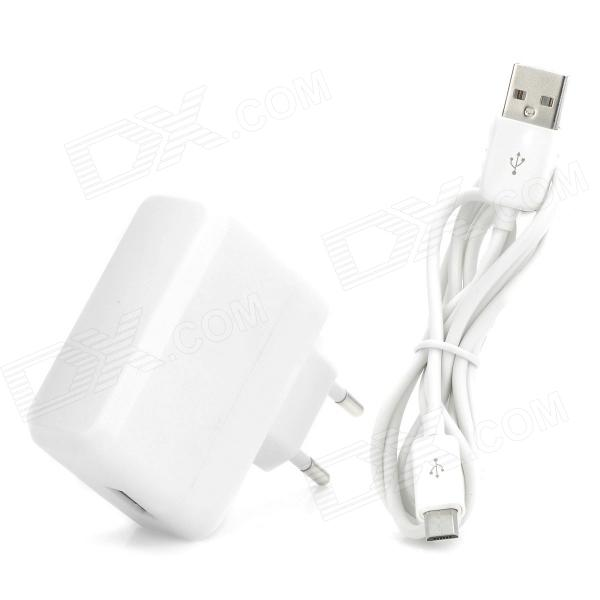 High Quality AC Charging Adapter Charger w/ USB Cable for Google Nexus 7 / Nexus 7 II - White usb charging docking station w data cable for google nexus 7 black