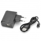 High Quality AC Charging Adapter Charger w/ USB Cable for Google Nexus 7 / Nexus 7 II - Black