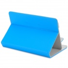 "Universal Stylish Flip-open PU Leather Case w/ Fastener / Holder for 7.9"" Tablet PC - Blue"