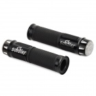 Rubber Bicycle Handle Grips w/ 3-Mode Flashing LED Lights - Black (2 PCS)