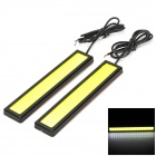 LY418 H3 3.6W 144lm 6000K 36-COB LED White Light Car Daytime Running Light - Black + Yellow (2 PCS)