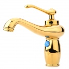 PHASAT 4005 Oil Lamp Style Gold-Plated Single Basin Water Faucet - Golden