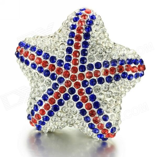 Merdia Diamond Shining Star Shaped Red & Blue Car Perfume Air Freshener - Lemon Scent